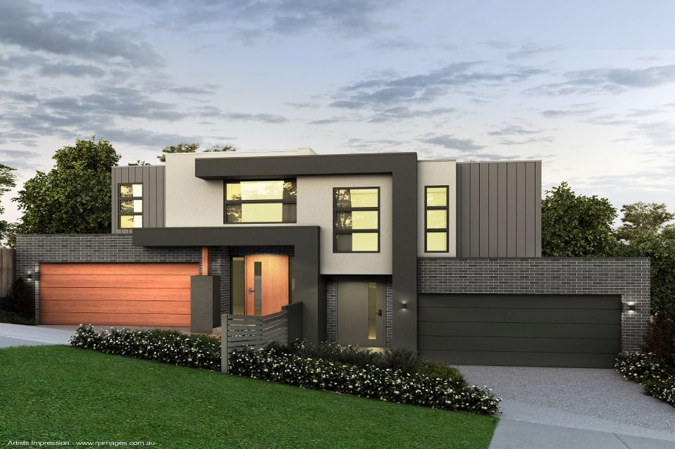 Highton dual occupancy units designed with Contemporary facade