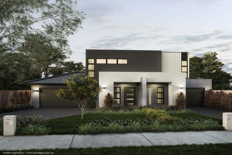Keilor East dual occupancy units designed with Contemporary facade